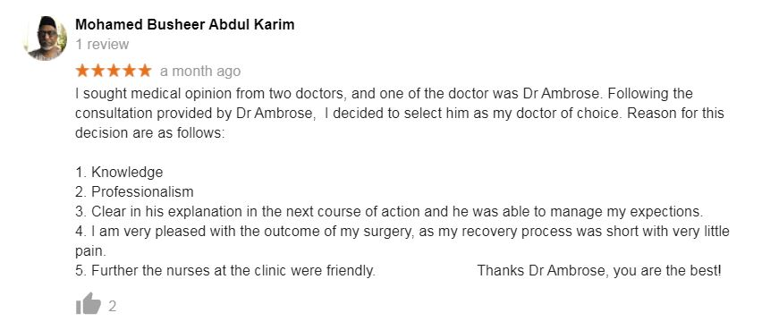 Dr Ambrose Yung Review 1