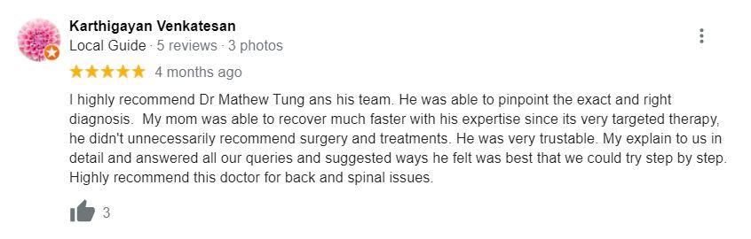 Dr. Mathew Tung review 1